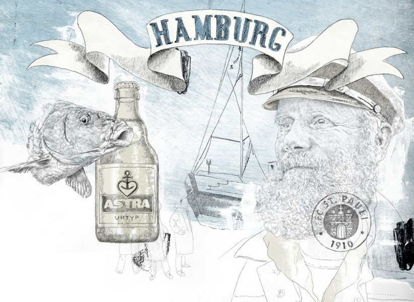 Illustration für die Hansestadt Hamburg